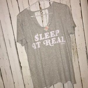 NWT VS PINK 💤 Sleep It ReaL top shirt lounge